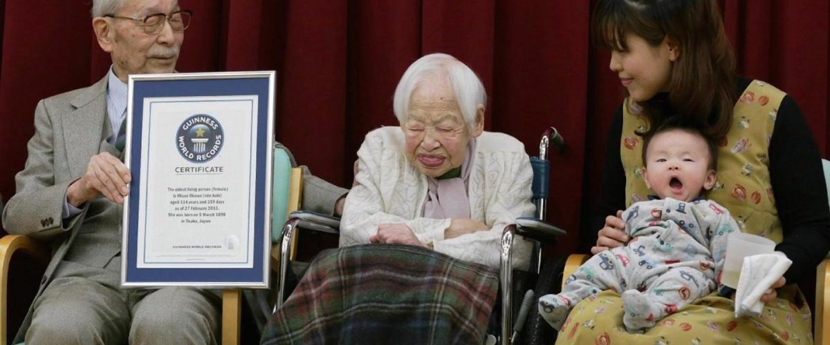 世界長寿TOP5は女性ばかり、19世紀生まれの生ける伝説達